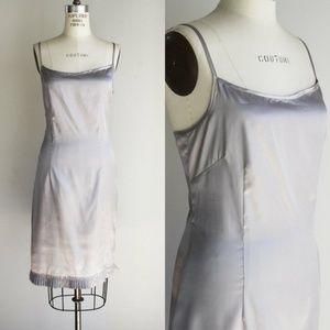 BCBG Silver Dress, New With Tags, NWT, Size 8